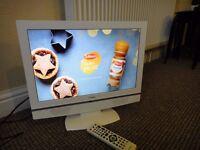 "Goodmans 19"" LCD Widescreen TV, HDMI & Built in DVD"