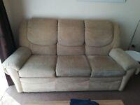Nice sofa ,two armchair and footstool