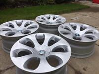 Genuine BMW style 121 ellipsoid alloy wheels 5x120