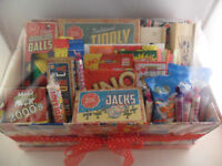 FAMILY RETRO GAMES HAMPER INC SWIZZLES SWEETS FOR 4 ALL IN A SWIZZLES STORAGE BOX - MOTHERS DAY