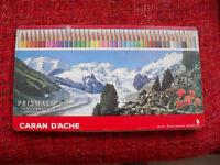 Caran D'Ache prismalo aquarelle water soluble pencils.