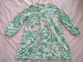 Boden Retro Farm Print Cotton Green Dress (size 18-24 months) brand new
