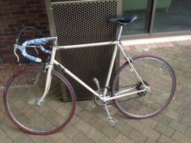 Steel framed road bike