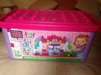 Mega Bloks - First Builders Big Bloks 220 piece pink box