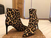 Dune Leopard print boots - size 7