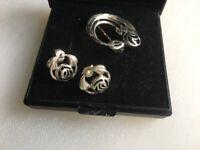 Kit Heath silver brooch and earrings set