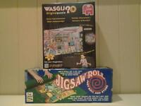 """""""WASGIJ"""" JIGSAW PUZZLE AND PUZZLE ROLL .. BOTH NEW+UNUSED"""