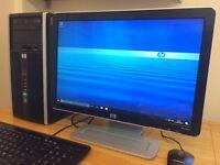 ***VERY FAST HP Pro Windows 10, 3.20Ghz, 4GB - 320GB, WiFi, Ati Radeon HD 4200 Desktop PC Computer
