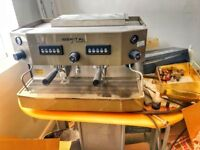 3 items ,Commercial Coffee Machine Iberital Junior 2 group with ground tray & coffee maker.