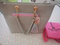 LYDC ANNA SMITH LIGHT GREY SHOULDER BAG WITH REMOVABLE POUCH & CHAIN HANDLES BRAND NEW WITH TAGS