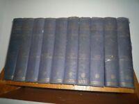 Complete set of 10 volumes of J Arthur Mee's Childrens Encyclopedia