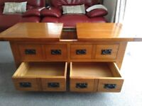 Toulouse Oak Coffee Table from Harveys - Character, Beautiful, Very Good Condition - CAN DELIVER