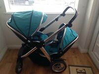 Oyster max 2 double pushchair and 2 seats