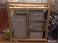 Wooden changing unit,