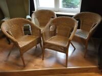 Four Rattan Chairs