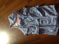 Baby girl blue romper with sweater