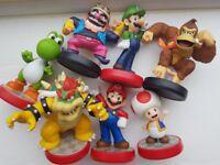 Amiibo bundle 7 items Mario wii u
