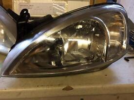Vauxhall Corsa 02 plate headlamps