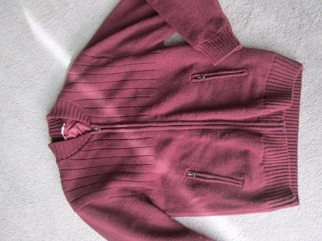 ZIPPED LINED CARDIGAN SIZE M/L