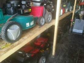 Lots of mowers in stock dry stored good running order