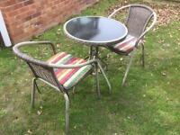 GARDEN FURNITURE TABLE WITH 2 CHAIRS CAN DELIVER