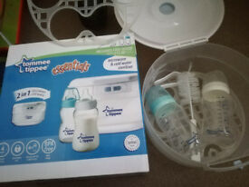 Tommee tippee microwave steriliser 2in 1 with 2 bottles