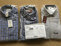 Brand new TM Lewin mens shirts (x3) - collar 15.5 inches, sleeve length 33 (short), slim fit