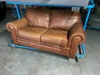 REAL LEATHER SOFA 2 SEATER IN GOOD CONDITION