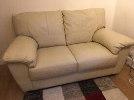 Leather look 2 seater sofa