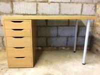 Office Desk - IKEA ALEX/LINNMON cost £85 new in IKEA (see their website). Size 120 x 60 cm