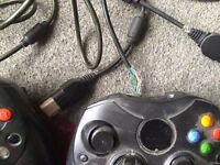 XBOX CONTROLLERS X 2 USED