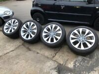 GENUINE BMW X5 M SPORT 20 INCH WHEELS ALLOYS ,X6,X3,E53, E70,TYRES, 227 STYLE