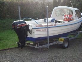 """Redbay Fast Fisher 16ft 7"""". Two X four stroke Mercury engines"""