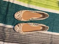 2 pair ballet style shoes size 6