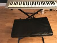 YAMAHA ELECTRIC PIANO / KEYBOARD WITH STAND AND STOOL - ALL IN VERY GOOD CONDITION
