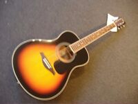 VINTAGE V300 SOLID TOP ACOUSTIC GUITAR WITH FREE GIFT PACK WORTH £35 + FREE PNP