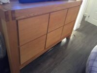 Solid Oak Sideboard and Side table