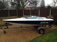 Driver 440 Speedboat - mariner 60 outboard - boat - good working order