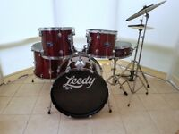 Leedy 5 Piece Drum Kit with Stands / Cymbals