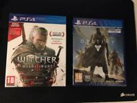 SEALED The Witcher 3: Wild Hunt and Destiny Bundle