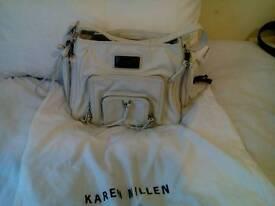 Authentic karen millen cream leather shoulder bag