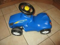 Push along Holland Blue tractor - excellent condition
