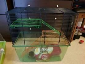 Split level gerbil cage