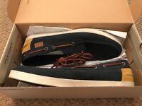 lacoste keelson SRM Dark blue suede boat shoes