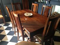 John Lewis Maharani Dining Table and 8 chairs - £400 ONO