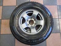 1x Brand New Bridgestone dueler 265/70 15 Tyre & Alloy, 4x4 6 Stud