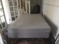 Ikea Sultan double mattress and base