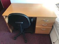 Laminate Office Desk & Swivel Chair