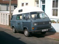 VW T25 Campervan with recoditioned engine