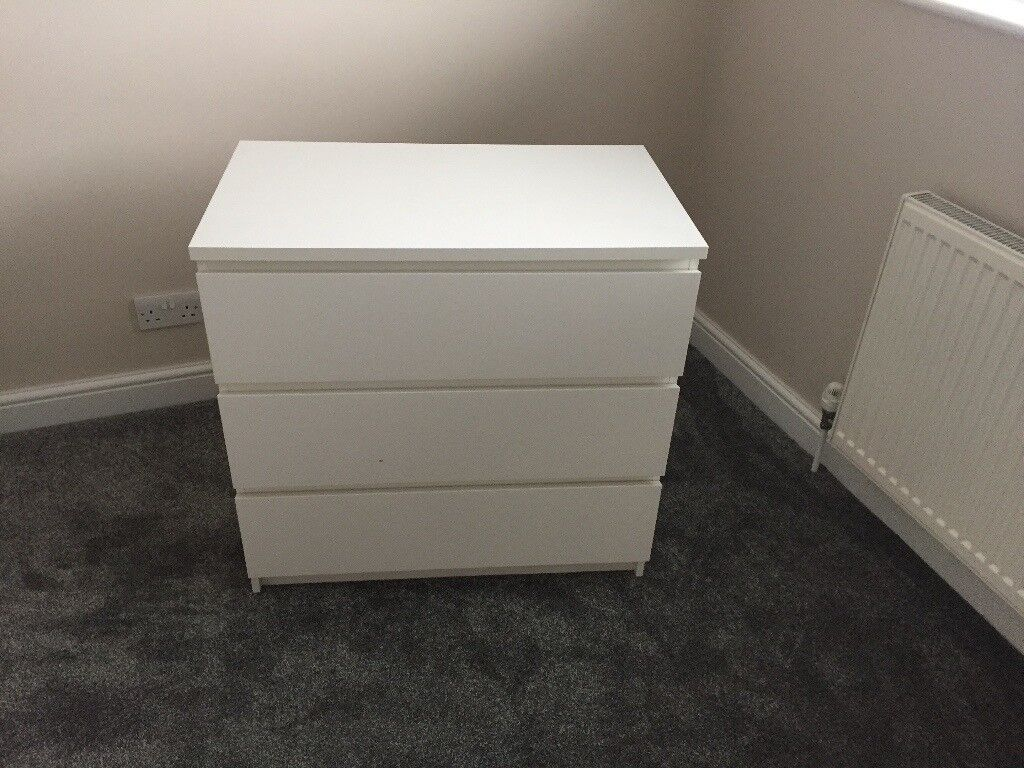 Used Ikea White Chest of Drawers